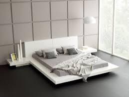 Modern Platform Bed Queen Fujian Modern Platform Bed Queen 2 Night Stands Glossy White