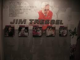 ohio state buckeyes honor jim tressel with tribute wall in ohio state buckeyes honor jim tressel with tribute wall in football facility cleveland com