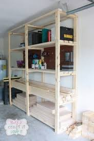 Wooden Storage Shelves Designs by How To Build Custom Garage Shelves Living With A Boy Pinterest