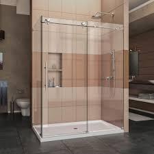 Glass Shower Sliding Doors Frameless Shower Shower Dreamline Enigma X In W H Corner With Sliding