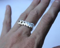 word signet ring sterling silver made to order personalized