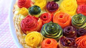 zucchini and carrots roses tart recipe youtube