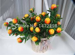artificial apple orange tree bonsai house decoration