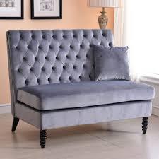 Velvet Settee Sofas Settee Loveseat Bench Benches Swoop Upholstered Settee Loveseat