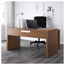 desk with pull out panel malm desk with sliding panel brown stain ash 803 275 08