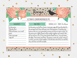 Shabby Chic Website Templates by Editable Recipe Card Template
