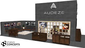 audeze 20 u0027 x 50 u0027 booth at ces 2015 studio concepts blog