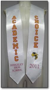 customized graduation stoles our exles of stoles for graduation graduationstoles net