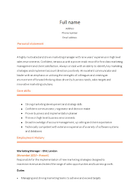 Resume Format For Sales And Marketing Manager 21 Perfect Marketing Resume Templates For Every Job Seeker Wisestep