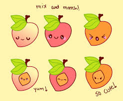 cute cartoons peach set vector art u0026 graphics freevector com
