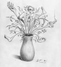 Vase Of Flowers Drawing Bouquet Of Flowers Drawing Images Flowers Ideas Flowers And Leaves