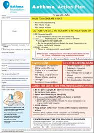 asthma action plan library national asthma council australia