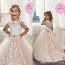 aliexpress com buy baby kids white champagne flower dresses