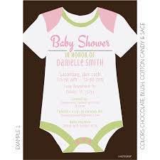 onesie baby shower invitation kateogroup