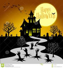 hand ghosts rising from the grave on halloween stock vector