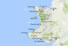 Map Of Wales Wales Coast Path Walking Holidays Walk All 870 Miles With Celtic