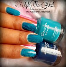 style those nails enchant blue nail polishes no 60 u0026 57 from