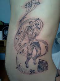 awesome music notes tattoo designs with dancing people tattoo