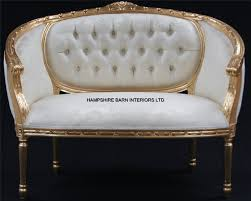 Double Chaise Lounge Sofa by A Double Ended Gold Ivory French Louis Ornate Chaise Longue Sofa