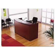 Laminate Reception Desk Laminate Reception Desk In Mahogany Finish 42167303105 Ebay