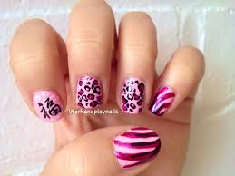 pretty in pink nail art tutorial work and play nails