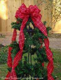 outdoor bows happy holidays