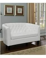White Tufted Loveseat Loveseat Faux Leather White Sofas U0026 Loveseats Bhg Com Shop