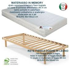 rete per materasso memory offerta rete ortopedica con materasso ortopedico in memory singolo