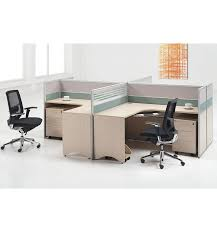 High Computer Desk Open Office Workstations Cheap Price High Quality 2 Person