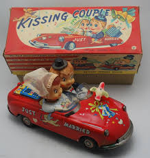 Howdy Doody Rocking Chair Ichida Kissing Couple Battery Operated Tin Toy From 50s Ebay