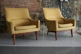 risom gold lounge chairs circa modern