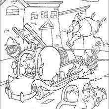 chicken alien attack coloring pages hellokids