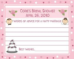 bridal shower wish 18 baby shower wish and advice cards party ideas