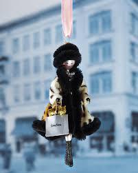 de carlini in faux leopard coat ornament
