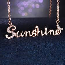 silver gold diamond necklace images Luxury design sunshine butterfly necklace rose gold diamond jpg