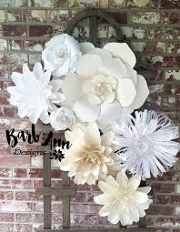 flower backdrop white and large paper flower backdrop barb designs