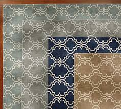 Pottery Barn Runner Rug Scroll Tile Rug Gray Pottery Barn