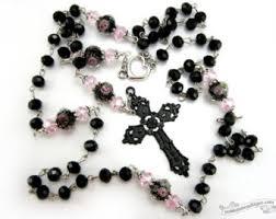 catholic rosary necklace black rosary necklace catholic rosary rosaries