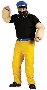 Popeye Halloween Costume Brutus Bluto Popeye Sailor Man Halloween Costume