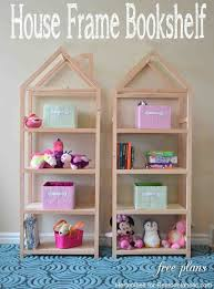 How To Make A Dollhouse Out Of A Bookcase Remodelaholic Diy House Frame Bookshelf Plans
