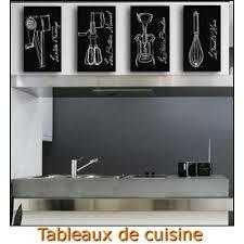 tableau theme cuisine decoration cuisine noir et gris
