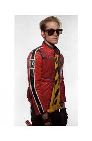 genuine leather motorcycle jacket my chemical romance kobra kid red leather motorcycle jacket