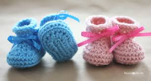 crochet newborn baby booties pattern repeat crafter me
