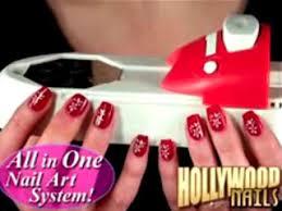hollywood nails all in one nail art kit nail stamps nail designs