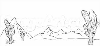 mountains how desert mountain landscape drawings to draw a