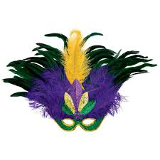 marti gras masks amscan green purple and gold feather sequin mardi gras mask