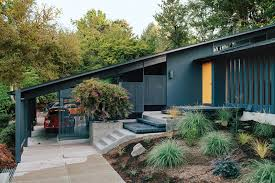 1950s color scheme midcentury renovation in portland capitalizes on nature with seven
