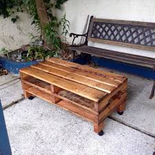 Patio Furniture Using Pallets by One Pallet Coffee Table With Wheels