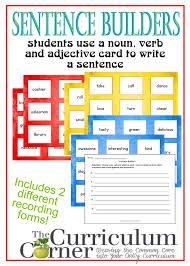 adjectives in sentences sentence builder cards the curriculum corner 4 5 6