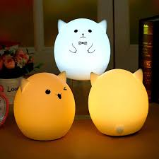 silicone usb led colorful atmosphere pig night light for kids